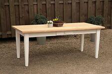 Esstisch Tisch Massiv Esszimmer Landhaustisch 150 cm mod 01 weiss/natur Neu