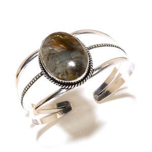 Preety-Silver-Plated-Labradorite-Bracelet-Cuff-Bangel-Handmade-Gemstone-Jewelry