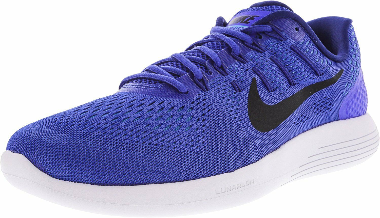 Seasonal price cuts, discount benefits Nike Mens Lunarglide 8 Black / White - Anthracite Racer Blue/Black 11.5 DPrice reduction US