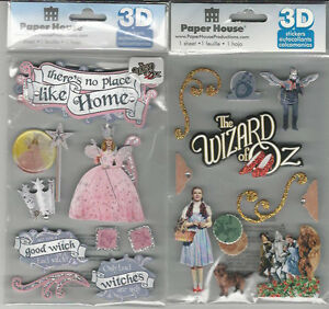 U-CHOOSE-Assorted-Paper-House-WIZARD-OF-OZ-3D-Stickers-discounted