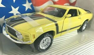 #7484 American Muscle Grabber Yellow 1970 Ford Boss 302 Mustang   Die Cast 1:18