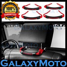 07-16 Jeep JK Wrangler RED Nylon Rear Side Grab Handle 4pcs Windshield Pillar