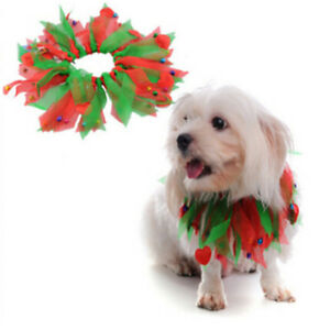 Pet Dog Coloured Ribbon Cat Dog Collar for Halloween Christmas Pet Grooming LD