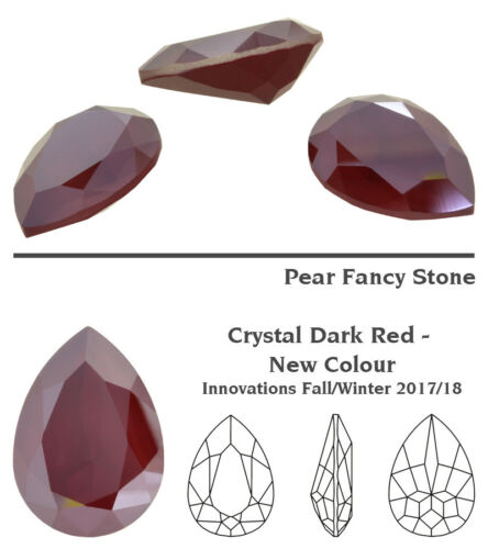 Many Colors /& Sizes Genuine SWAROVSKI 4320 Pear Fancy Stone Crystal Rhinestone