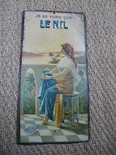 tôle publicitaire ancienne LE NIL lithographiée  ROMOLO TESSARI