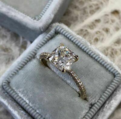Details about  /2.00 Tcw Round Cut Diamond Solitaire Engagement Ring 14K Yellow Gold Finish
