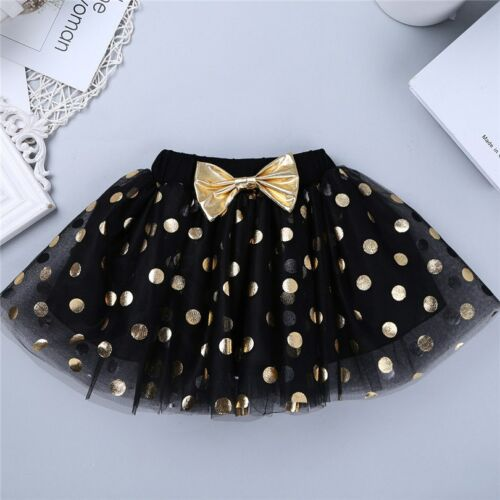 Girls Outfit Sleeveless Top Polka Dots Tutu Skirt Birthday Party Kids Clothes