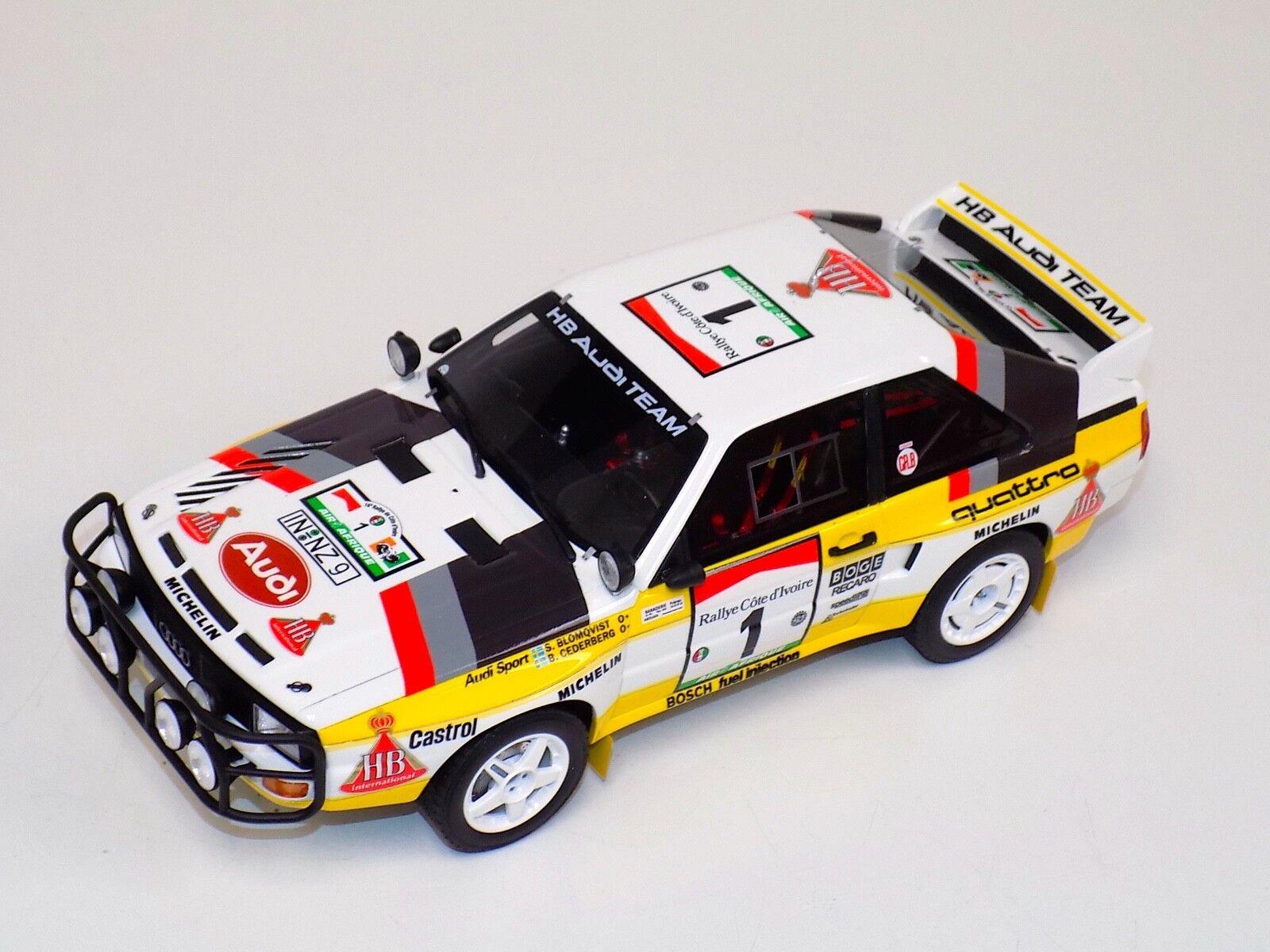 1 18 Otto GT Spirit Audi Quattro Sport Gr.B 1984 Safari Rally OT253