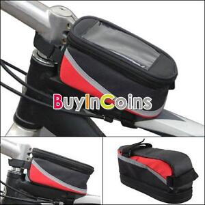 Bike-Bicycle-Water-repellent-Frame-Pannier-Front-Cell-Mobile-Phone-Tube-Bag-Case