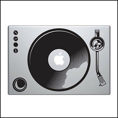 Turntable Decal for Macbook Pro Sticker Vinyl laptop skin DJ Music mac 13 15 11