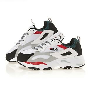Details about New Authentic FILA Women Ray Tracer Disruptor Shoes  White/Black/Red(FS1SIA3133X)