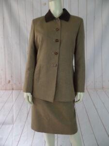 Tan Petite Blazer Le Poly Suit Set Novità Rayon 2pz Pied Marrone 8p de poule Skirt 5Rw0wtq