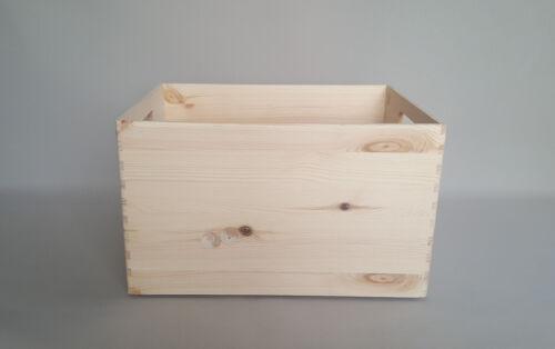 Wooden Large Size Plain Wood Box Storage Trunk Decoupage Craft Handles Chest