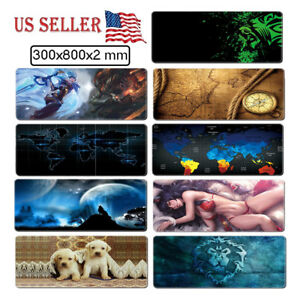Extended-Gaming-Computer-Mouse-Pad-Wide-Large-Size-Desk-Keyboard-Mat-800-X-300MM