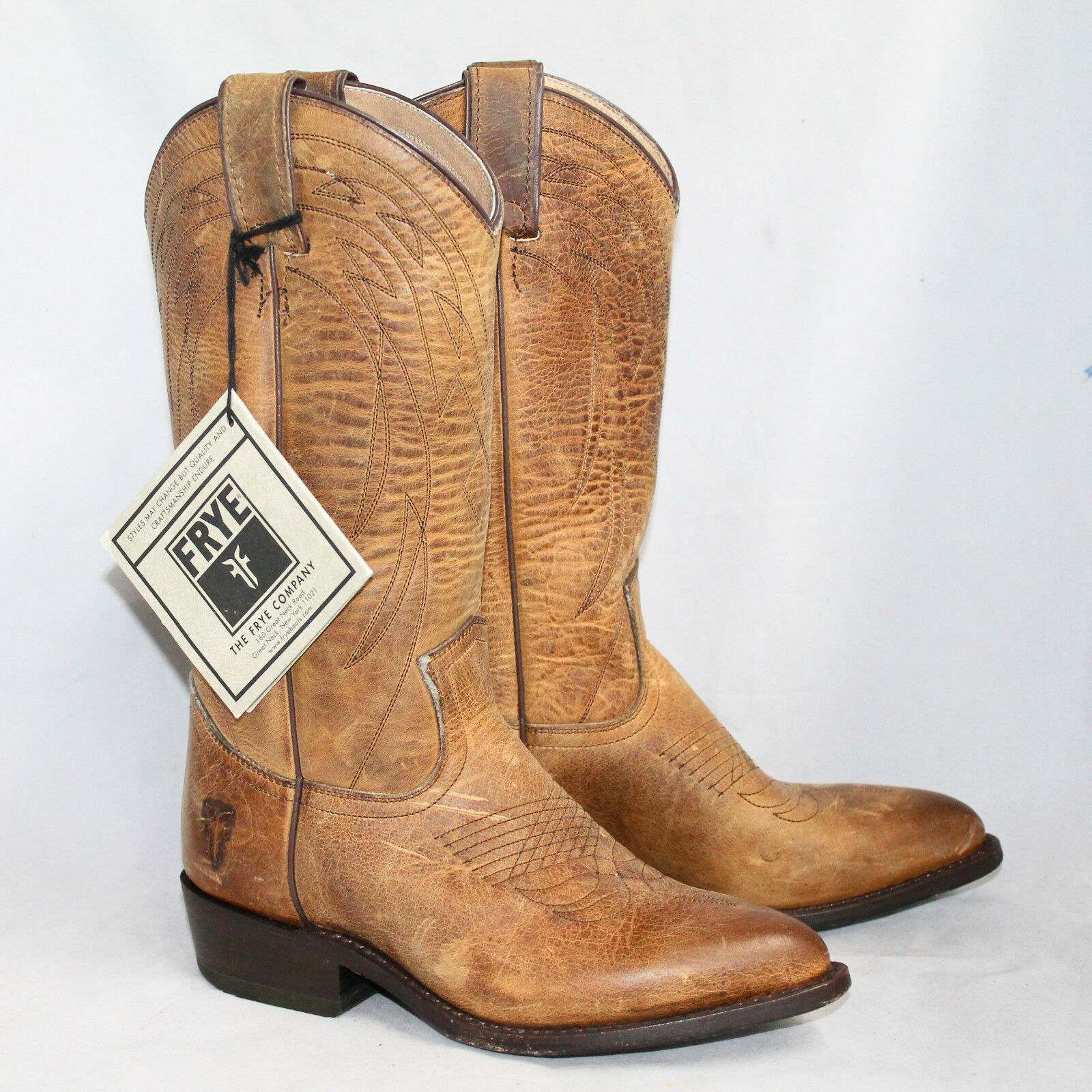 NWOB FRYE Billy Pull On Western Boot Boot Boot 77700 Wo's 6B Brown Distressed Leather  298 ece7af