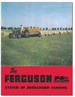 Ferguson System of Mechanised Farming Tractor Brochure 1950s