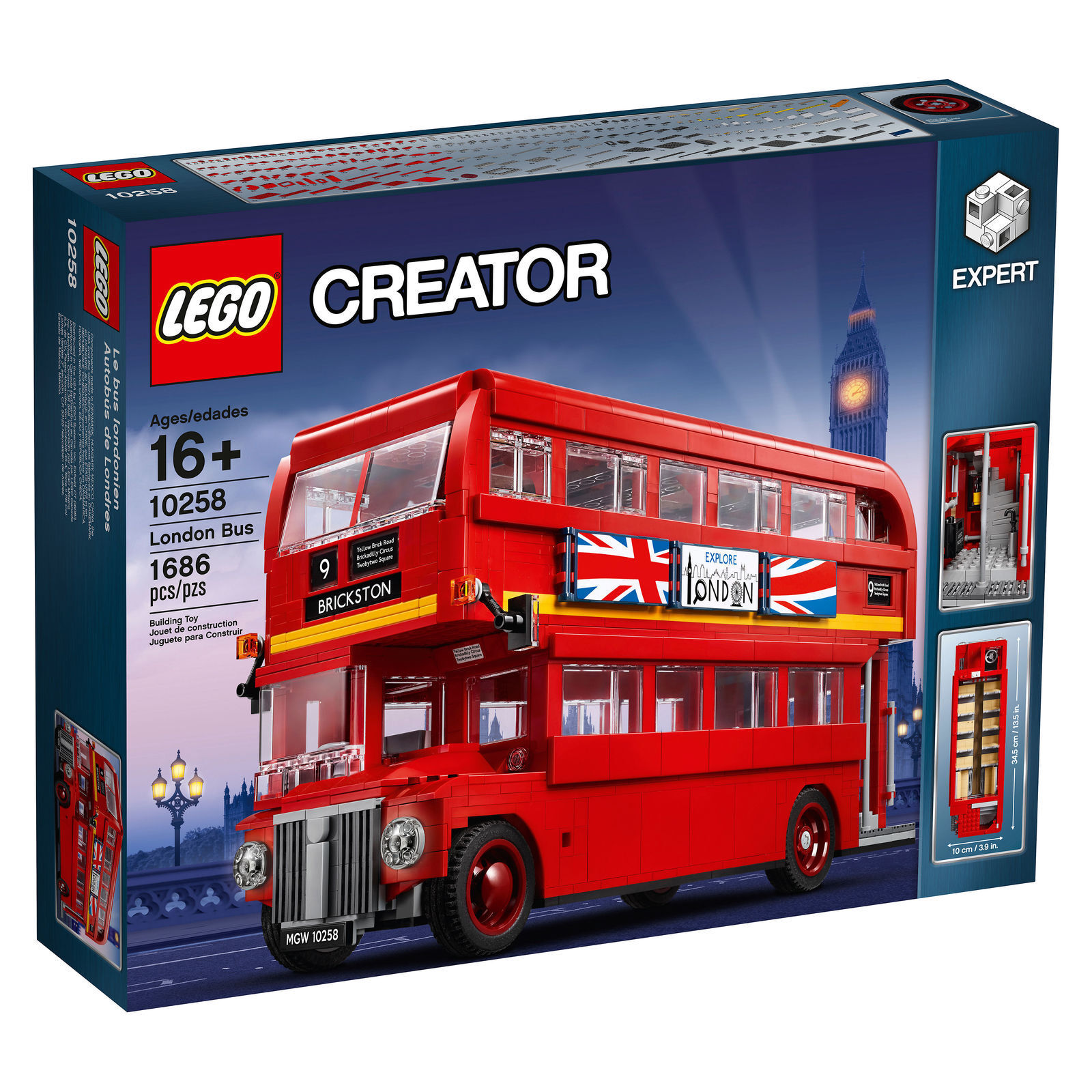 NEW LEGO CREATOR  LONDON BUS SET 10258  1500+ PIECES