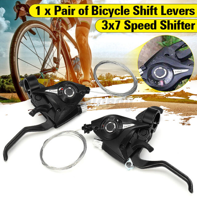 Bicycle Gear Shifters Shift Levers Bicycle 7//21 Speed Levers Equipment