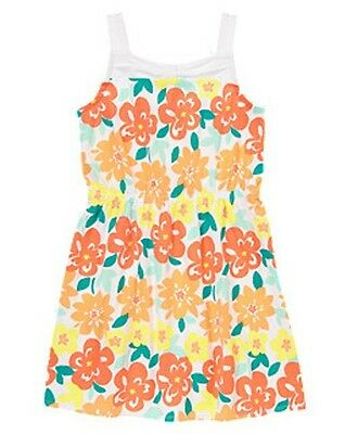 NWT Gymboree Sunny Citrus Tropical Hawaiian Floral Knit Dress Size 5 6 /& 7