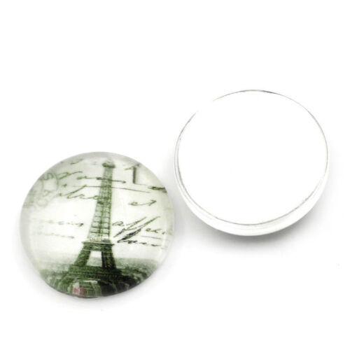 Artesanías y hazlo tú mismo recortes Paquete De 5-Vidrio Cabuchones para la fabricación de joyas