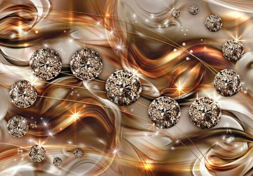 -Design Abstrakt Tunnel Optik Diamanten Deco VLIES Fototapete-3D MUSTER- 10576
