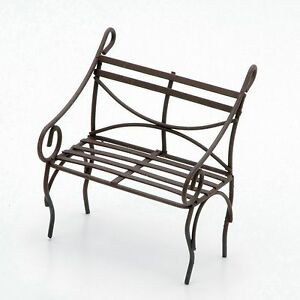 Pleasing Details About Miniature Garden Bench Rustic Metal 3X 3 Fairy Garden Bench Gnome Bench Gmtry Best Dining Table And Chair Ideas Images Gmtryco