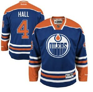 quality design d6baa 5b559 Details about Taylor HALL OILERS Reebok Premier Officially Licensed NHL  Black Ice Jersey,