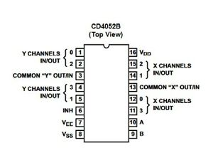 4-x-CD4052BE-Dual-4-Channel-multiplexer-IC-039-s-4-x-IC-sockets-FREE-POSTAGE
