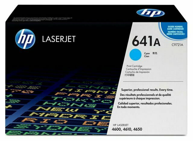 C9721A Cyan NEW//OEM SEALED//FAIR COND Genuine HP Toner LaserJet Print Cartridge