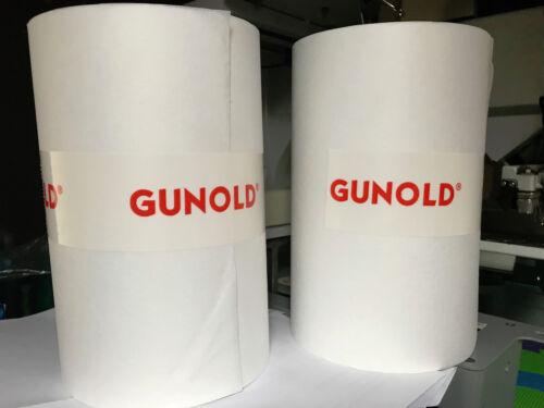Gunold 1640NC Backing 37g White 100m x 21cm Embroidery stabiliser Medium Weight.