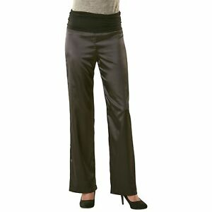 pantalon noir satiné femme