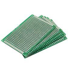 5 x Nuevo Fibra de Vidrio Cobre Universal Prototipo Placa PCB Doble Cara 5x7cm