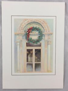Orig-1988-President-Ronald-Reagan-White-House-Christmas-Card-North-Portico