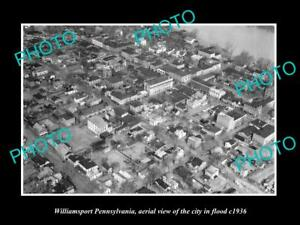 OLD-LARGE-HISTORIC-PHOTO-OF-WILLIAMSPORT-PENNSYLVANIA-THE-CITY-IN-FLOOD-c1936-2