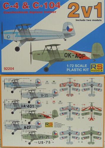 Bücker Sparpack C-4 und C-104 Plastik RS-Model 1:72 Neu Doppelpack