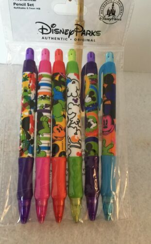 Disney Parks Mechanical Pencil Set  New Refillable Mickey At His Best