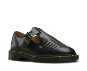 Ladies Dr Martens Serova Skull Emboss Black Leather 3 Eyelet Shoes UK 4-8