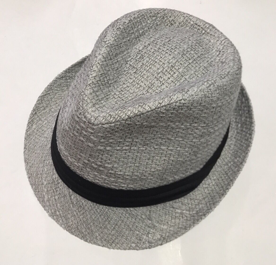Bruno Conte's 100% Polyester Men's Men's Men's Fedora Silver Hat Large Size 09e475