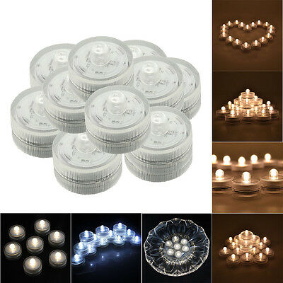 24 Pcs LED Submersible Waterproof Wedding Decoration Underwater Party Tea Light
