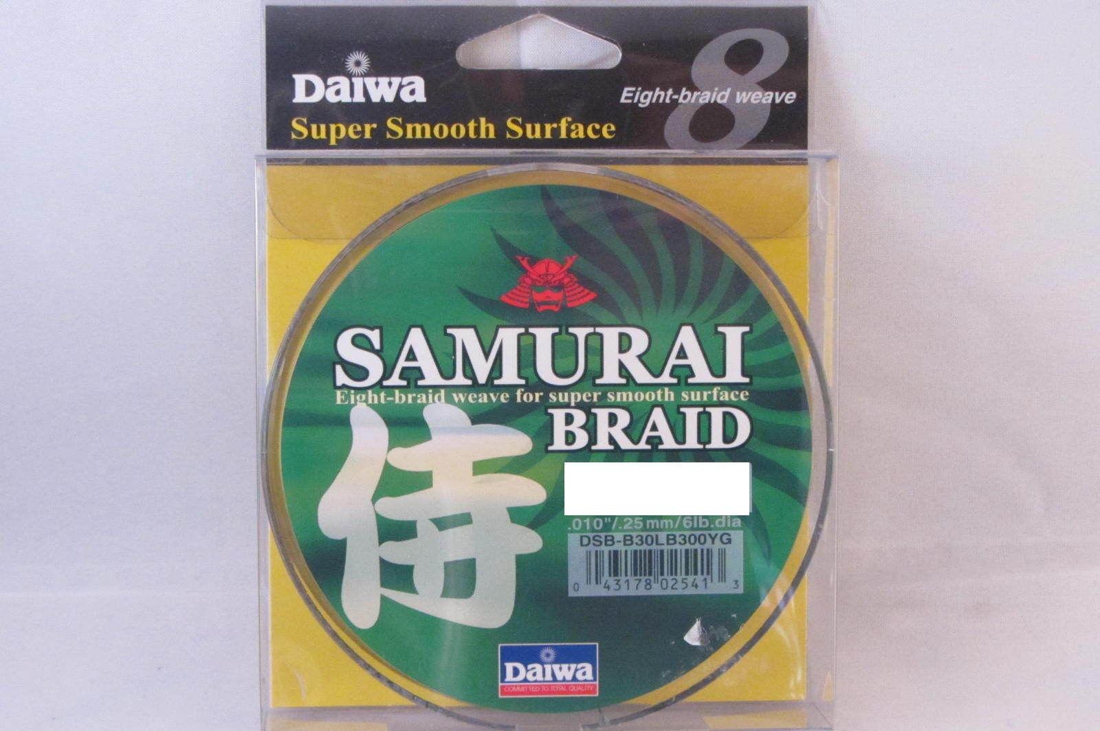NEW DAIWA SAMURAI BRAID GREEN 55LB 300YD DSB-B55LB300YG