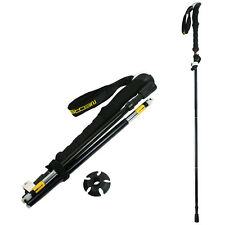 Foldable Trekking Walking Hiking Stick Adjustable Anti-Shock Alpenstock Pole