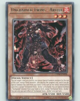 Unchained Twins YUGIOH CHIM-EN008 1st Edition Aruha Rare