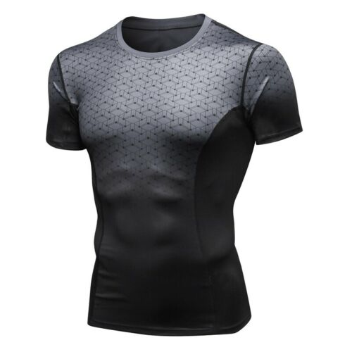Bodybuilding Gym T-Shirt Mens Compression Workout Shirt Muscle Tee Fitness Tops