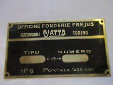 Scudo Piastra Diatto Frejus S22 Ottone Placca