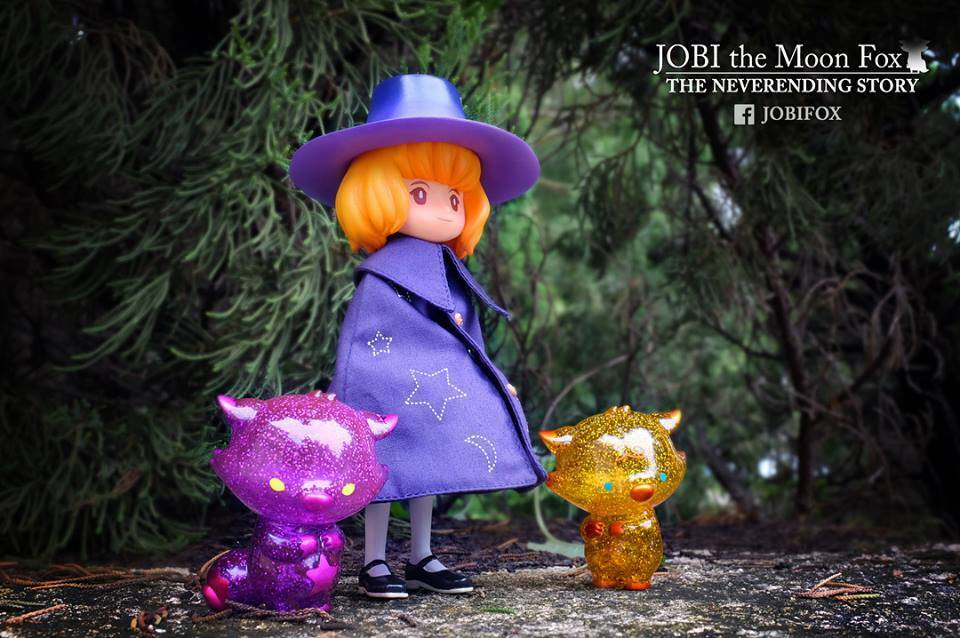 Okluna Juguetes Jobi Luna Fox Sofubi Vinilo Figura MS Viajero Conjunto de 4