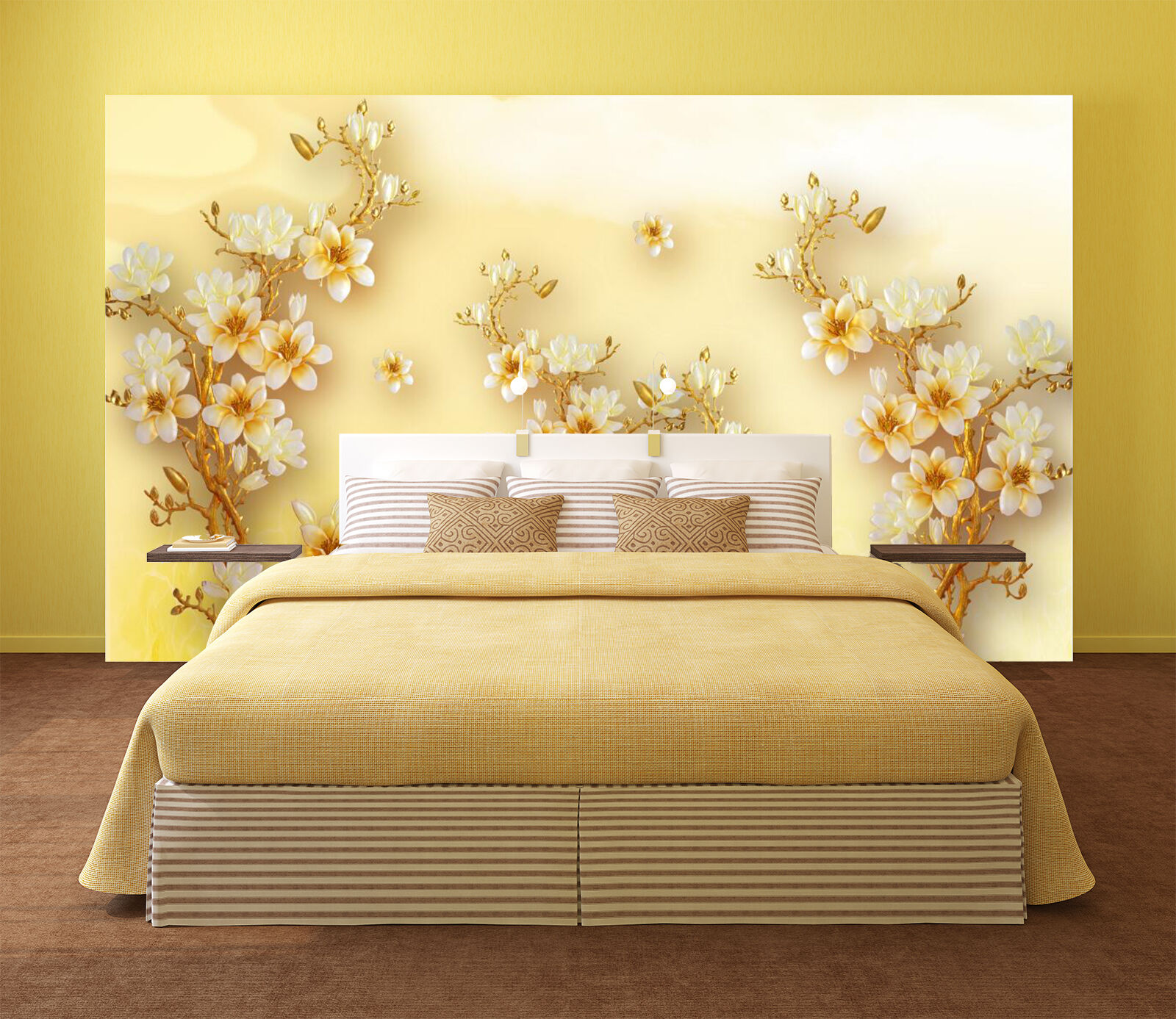 3D Pretty Flowers Trees 1983 Paper Wall Print Wall Decal Wall Deco Indoor Murals