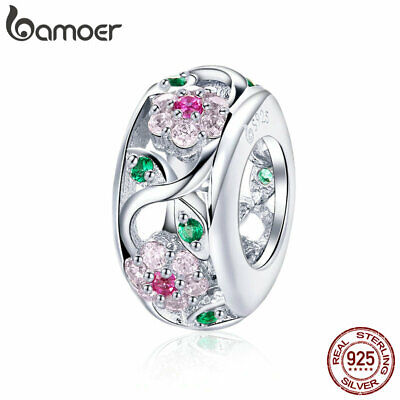 Bamoer .925 Sterling Silver charm The Dachshund With CZ Fit Bracelet Jewelry