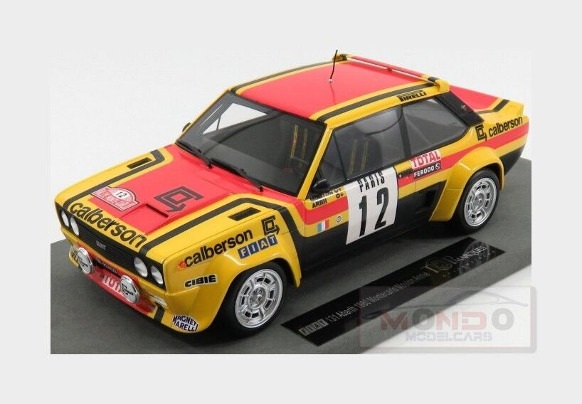 Fiat 131 Abarth  12 Rally Montecarlo 1980 Mouton Arrii TOPMARQUES 1 18 TOP043B