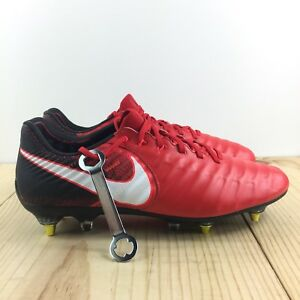 82f60333d22 Nike Tiempo Legend VII SG Pro Sz 8 Anti Clog Red Black Mens Soccer ...