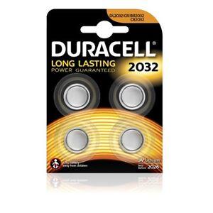 4x-CR2032-Lithium-Knopfzelle-3V-DL2032-DURACELL-1x-Vierfachblister